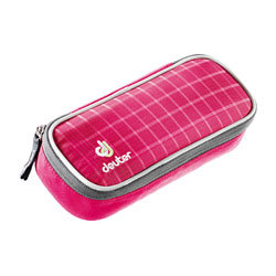 deuter Pencilcase Raspberry Check