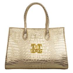 Gloeoeckler Handtasche M Kroko Gold