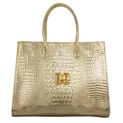 Gloeoeckler Handtasche L Kroko Gold