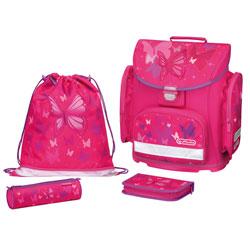 Herlitz Schulranzen Schulranzen Set Midi Plus Pink Butterfly