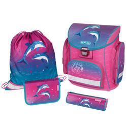 Herlitz Schulranzen Schulranzen Set Midi Plus Dolphin Love